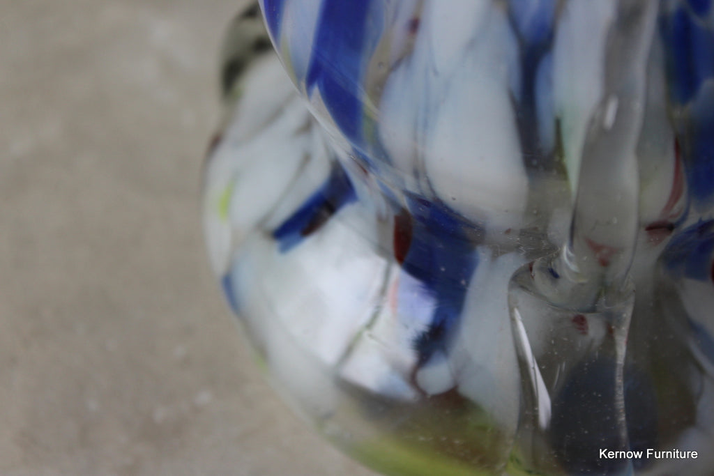 Mottled Glass Finger Vase - Kernow Furniture