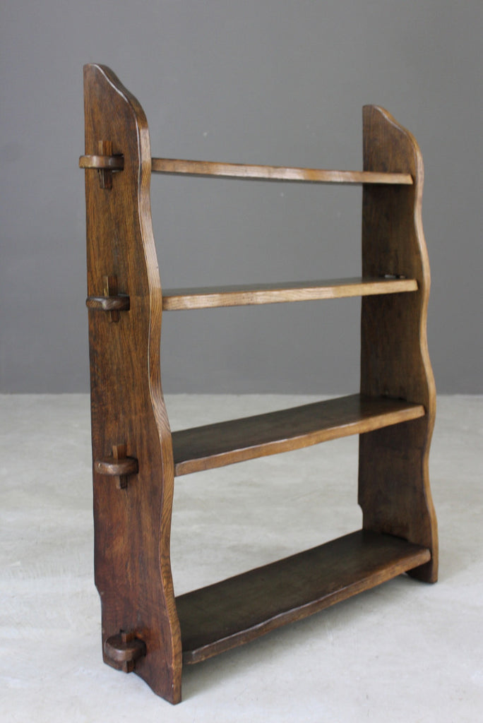 Elm Pegged Open Bookcase - Kernow Furniture
