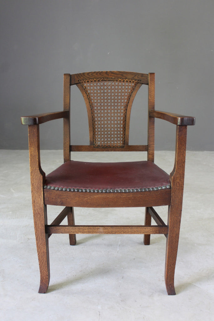 Oak & Cane Office Chair