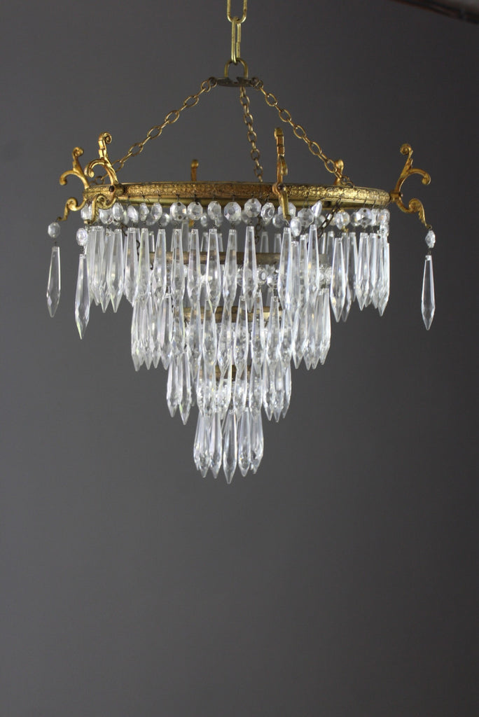 French Four Tier Waterfall Chandelier
