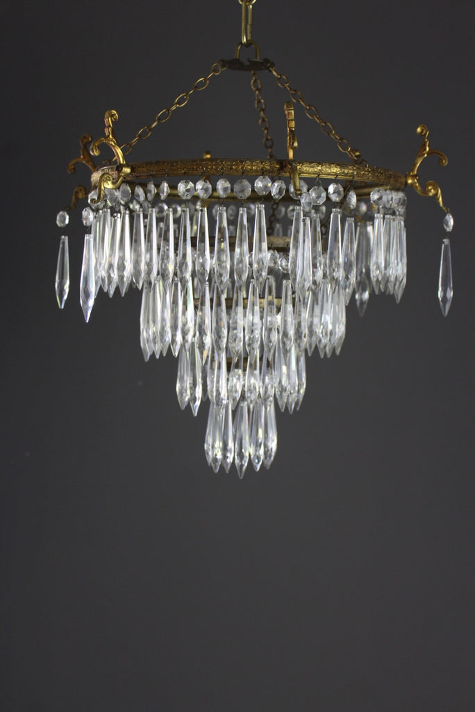 French Four Tier Waterfall Chandelier - Kernow Furniture