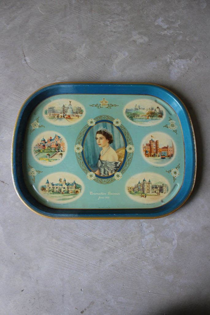 Vintage 1953 Queens Coronation Tin Tray