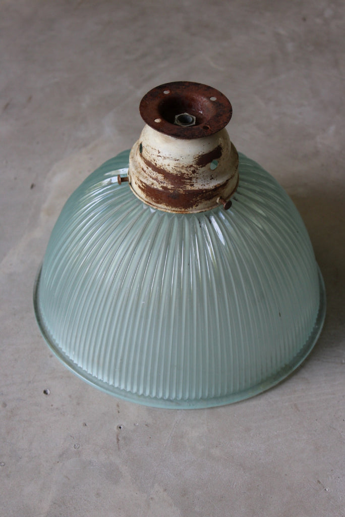 Vintage Ribbed Glass Ceiling Shade