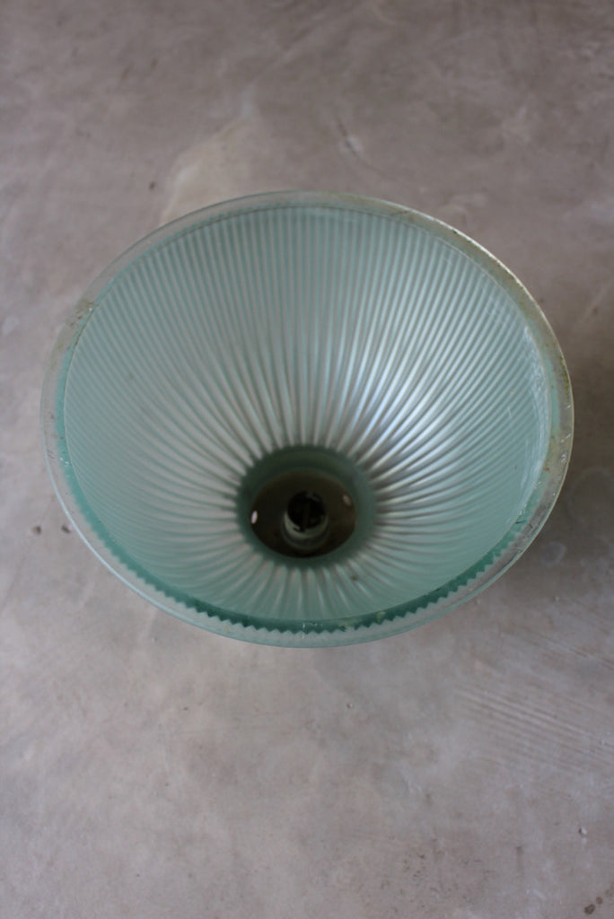 Vintage Ribbed Glass Ceiling Shade - Kernow Furniture