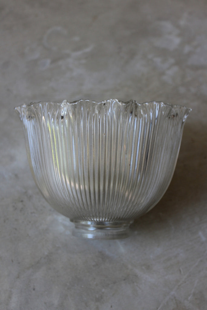 Ribbed Glass Lamp Shade - Kernow Furniture