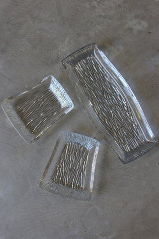 Retro Glass Serving Dishes - Kernow Furniture