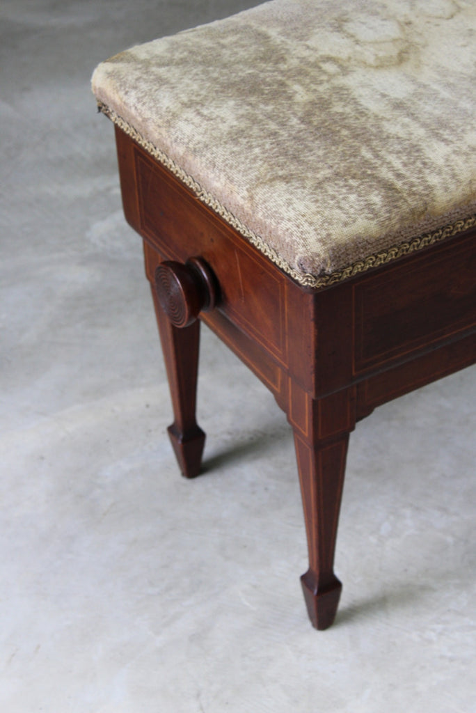 Edwardian Adjustable Music Stool