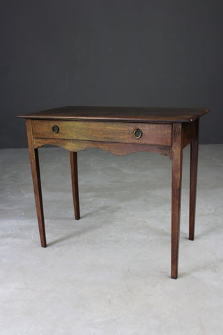 Antique Georgian Mahogany Side Table - vintage retro and antique furniture