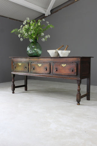 18th Century Oak Dresser Base - vintage retro and antique furniture