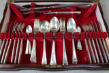 Antique Walnut Epns Six Place Setting Cutlery Canteen - vintage retro and antique furniture