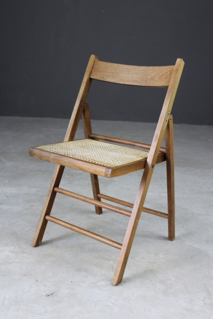 Single Vintage Folding Cane Chair