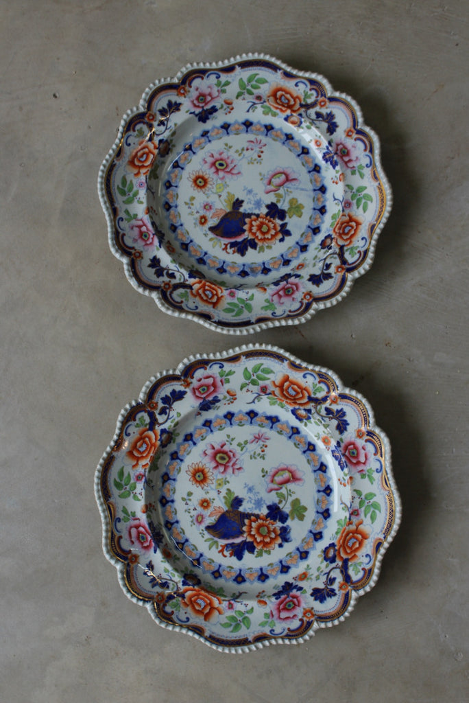 Pair Antique Hicks Meigh & Johnson Plates