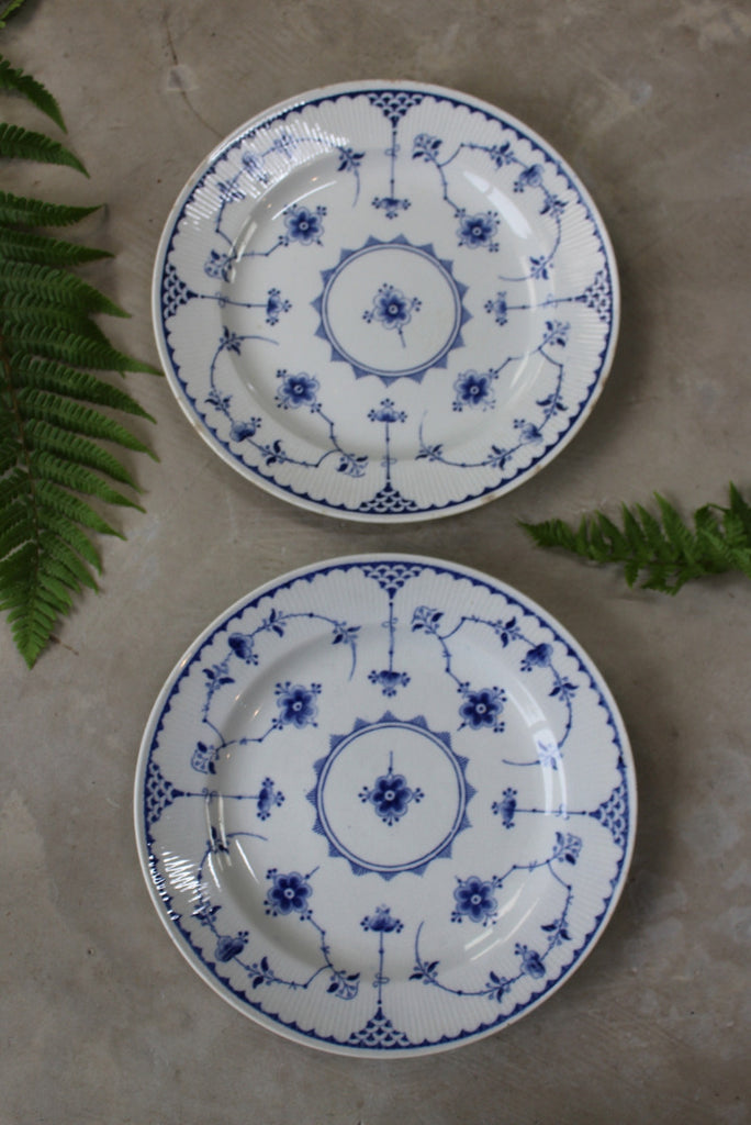 Pair Furnivals Denmark Blue Plates