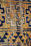 Golden Afghan Wool Rug