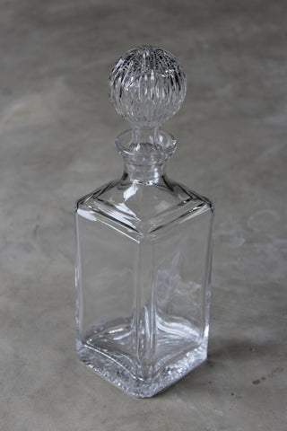 Mid Century Square Glass Decanter