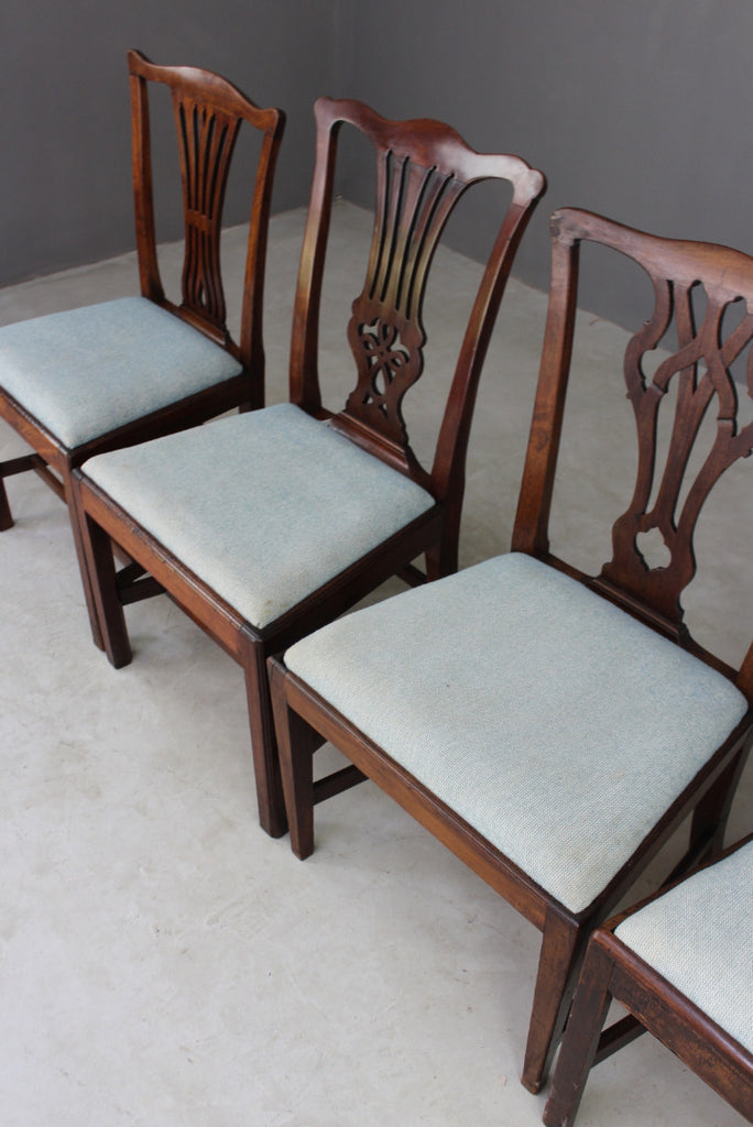 Near Set Chippendale Style Dining Chairs - Kernow Furniture