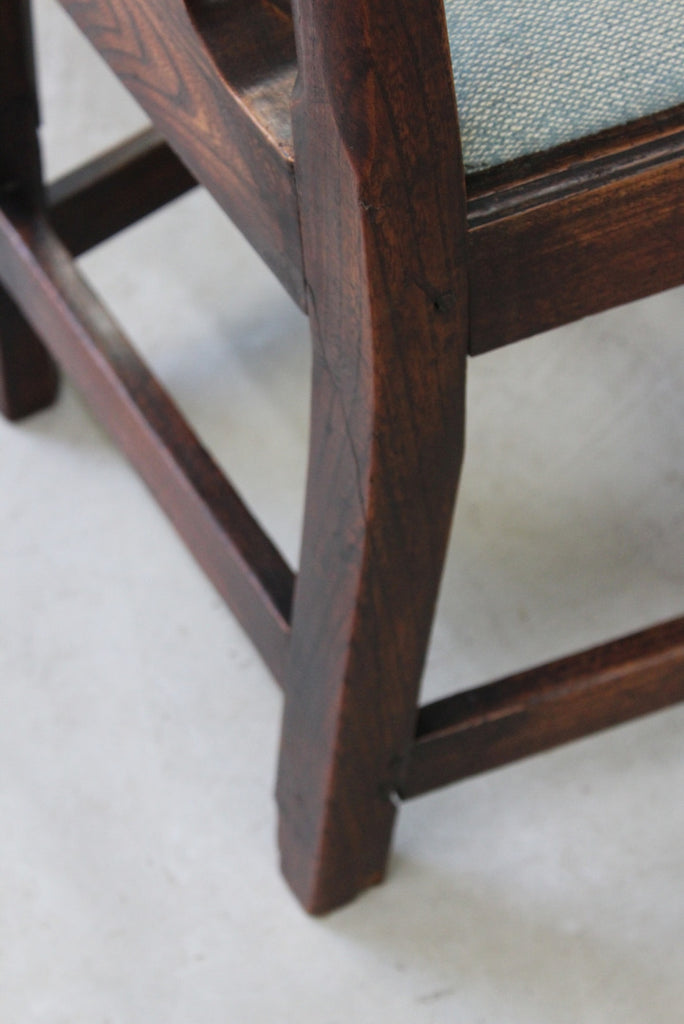 Single Elm Chippendale Style Chair - Kernow Furniture