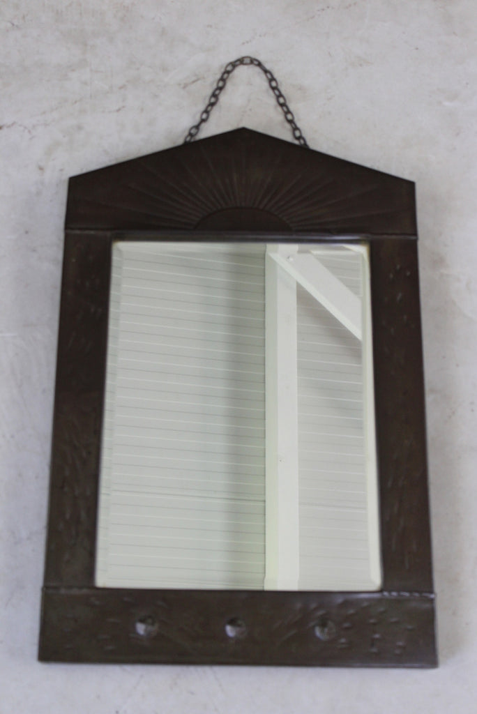 Arts & Crafts Metal Frame Mirror - vintage retro and antique furniture