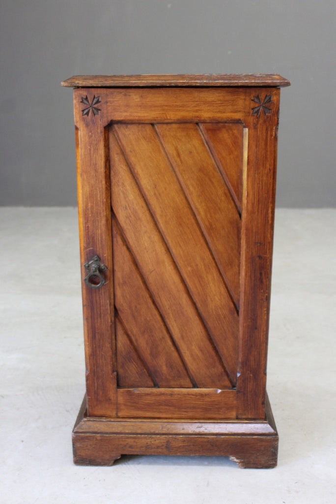 Antique Victorian Bedside Cabinet - Kernow Furniture