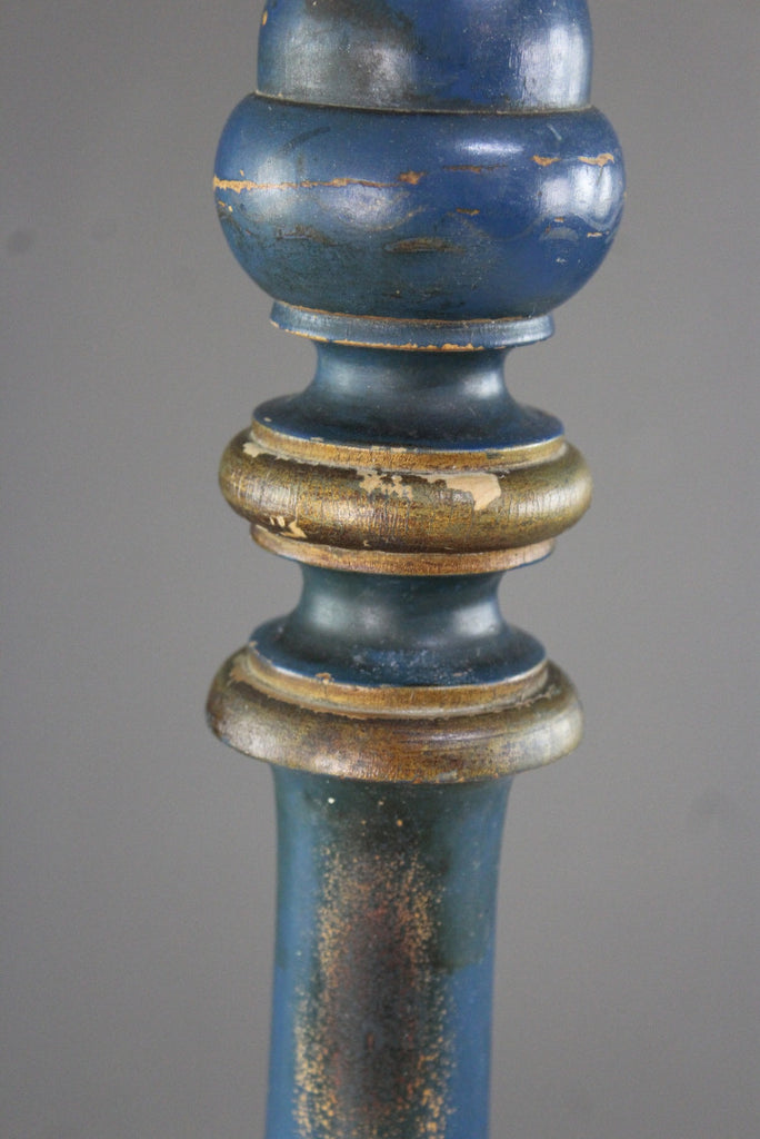 Blue Chinoiserie Standard Lamp - Kernow Furniture
