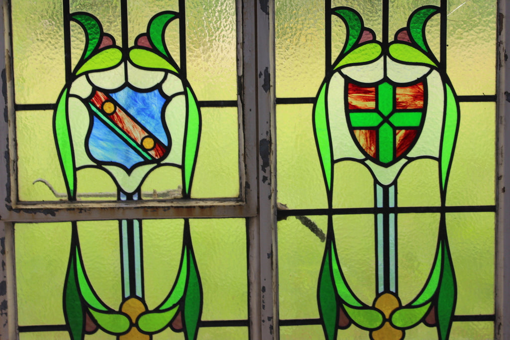 metal frame stained glass window