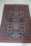 Brown & Blue Afghan Rug