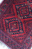 Afghan Red Wool Runner - vintage retro and antique furniture