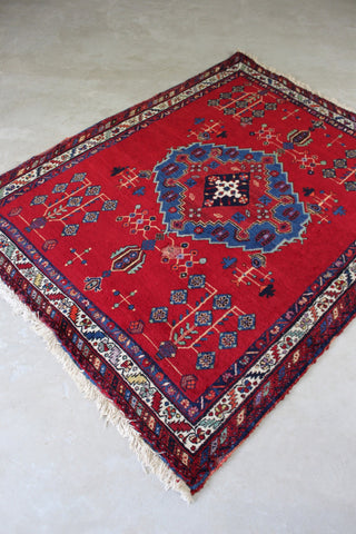 Afshar Red Rug - vintage retro and antique furniture