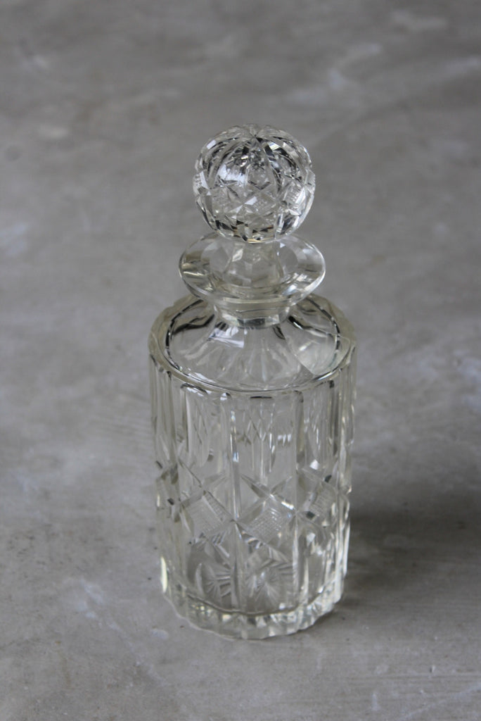 Round Cut Glass Whisky Decanter - Kernow Furniture