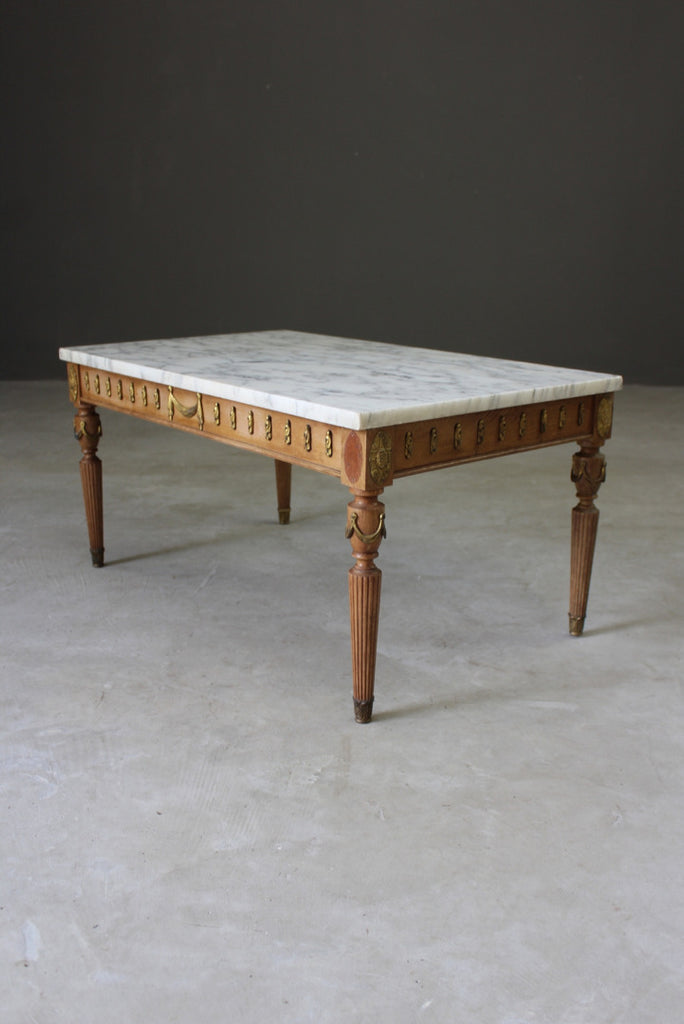Marble French Style Coffee Table