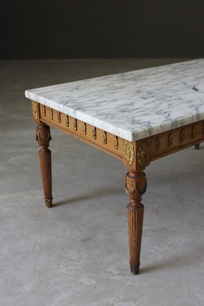 Marble French Style Coffee Table - Kernow Furniture