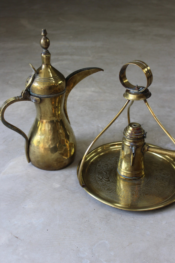 Brass Turkish Tea Kettle Tray