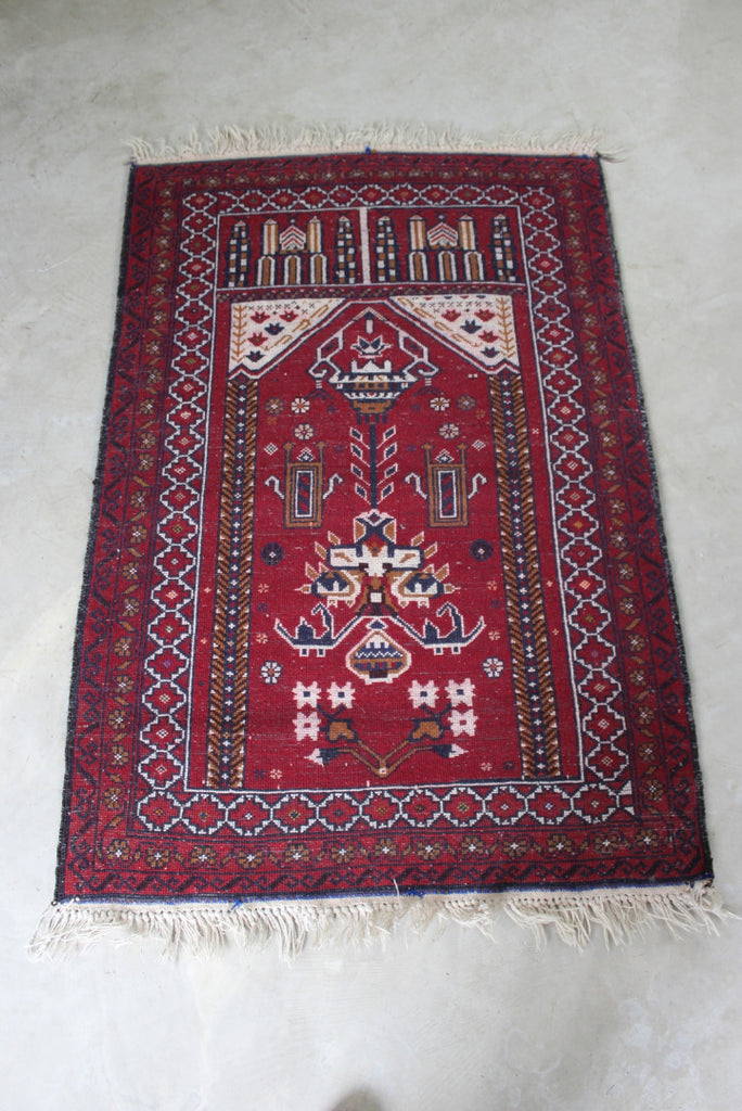 Modern Red Prayer Rug - Kernow Furniture