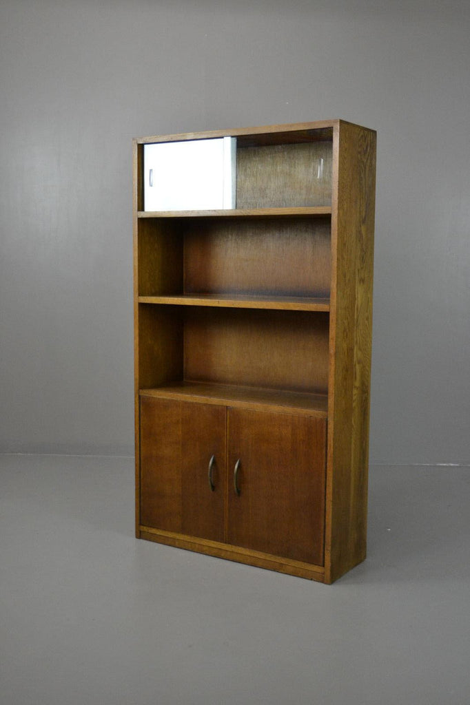 Retro Glazed Oak Bookcase