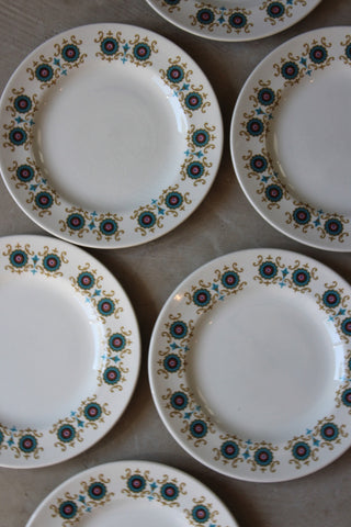 6 Ridgway Contessa Side Plates - vintage retro and antique furniture