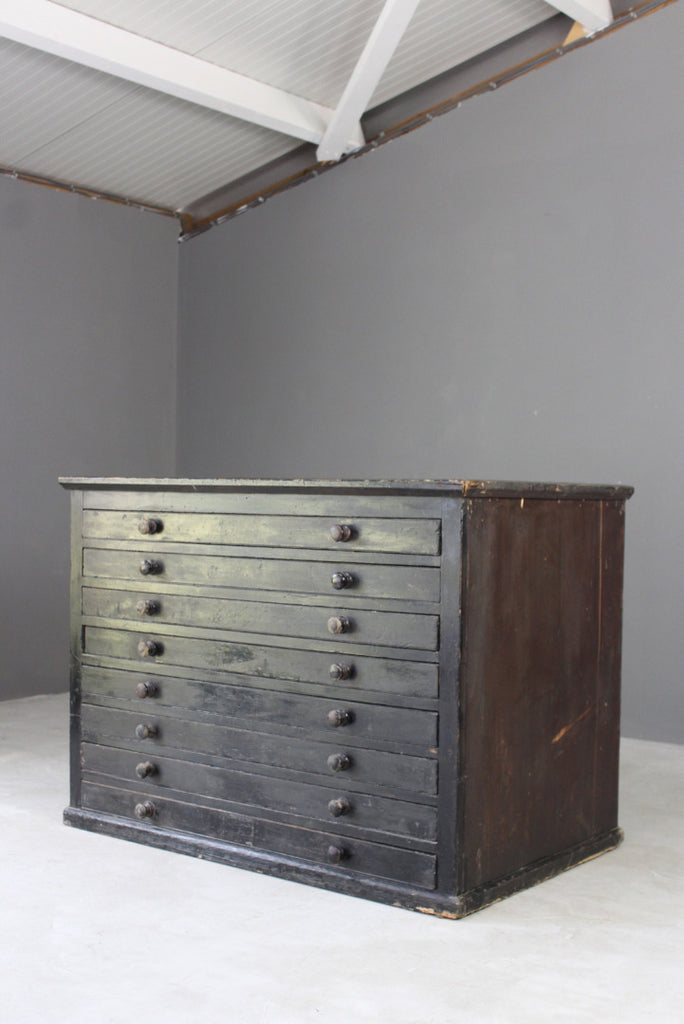 Painted Pine Plan Chest - Kernow Furniture