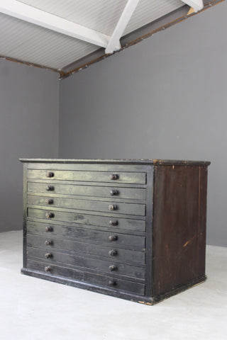 painted pine plan chest