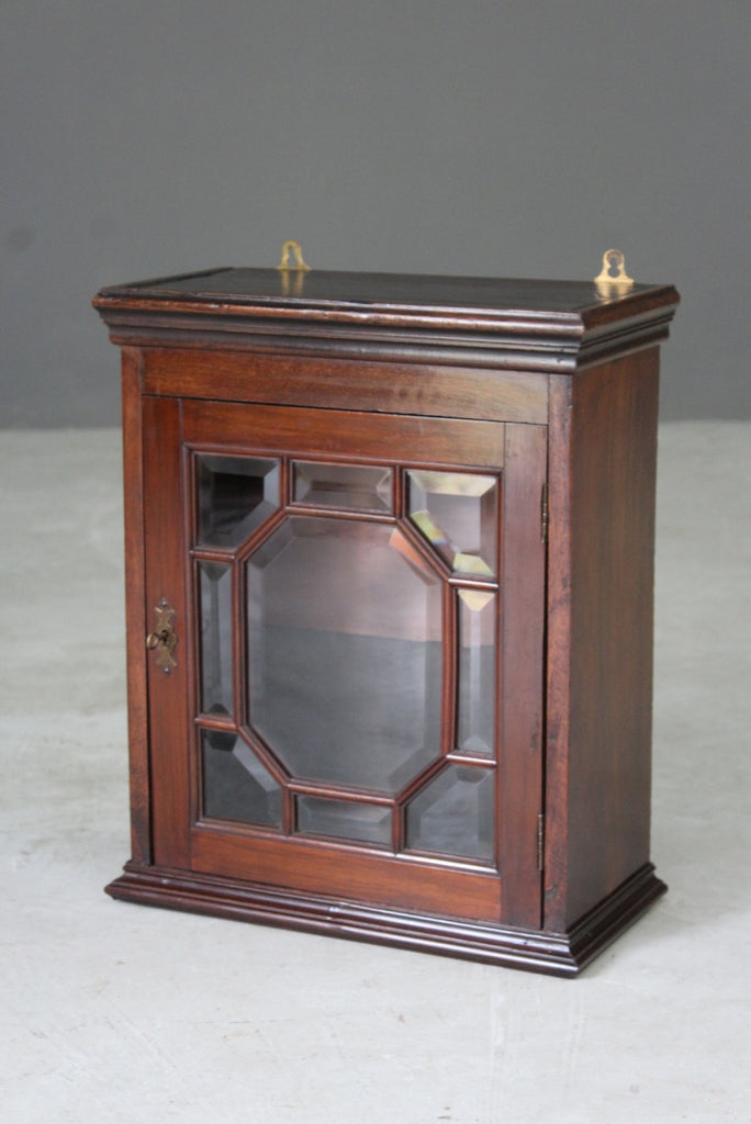 Mahogany Small Glazed Display Cabinet