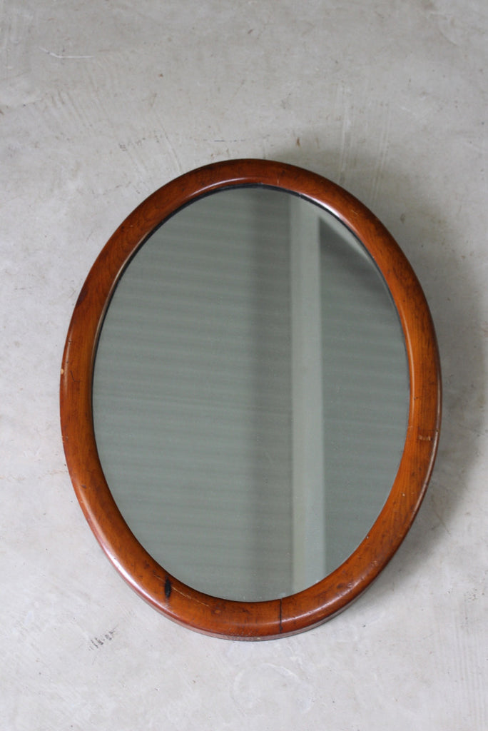 Mahogany Oval Wall Mirror