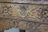 Antique 19th Century Carved Oak & Elm Dresser - Kernow Furniture