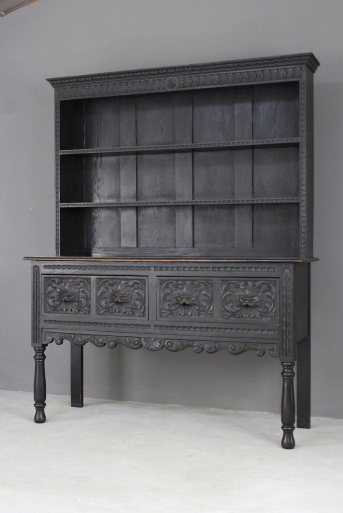 ebonised green man dresser