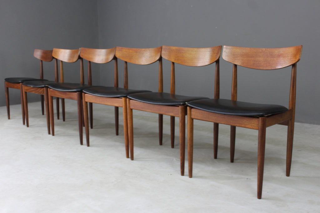 6 Retro E Gomme Dining Chairs - vintage retro and antique furniture