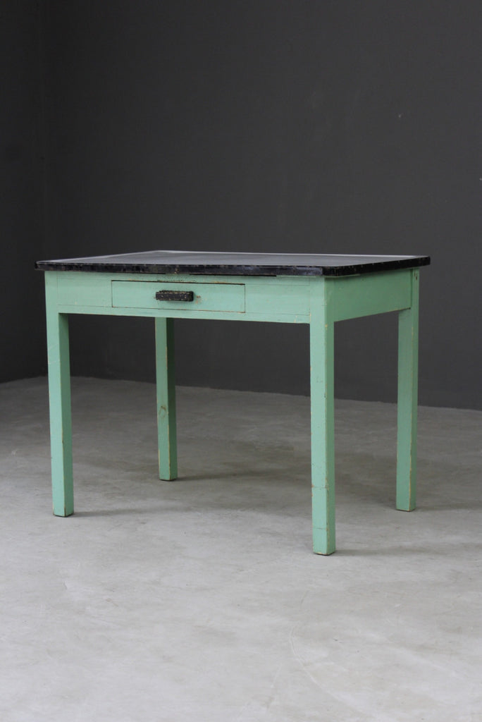 vintage enamel top kitchen table
