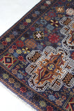 Afghan Belouch Rug - vintage retro and antique furniture