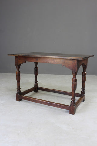 antique elm and oak side table rustic