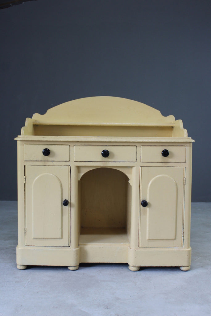 antique painted victorian pine small sideboard cupboard