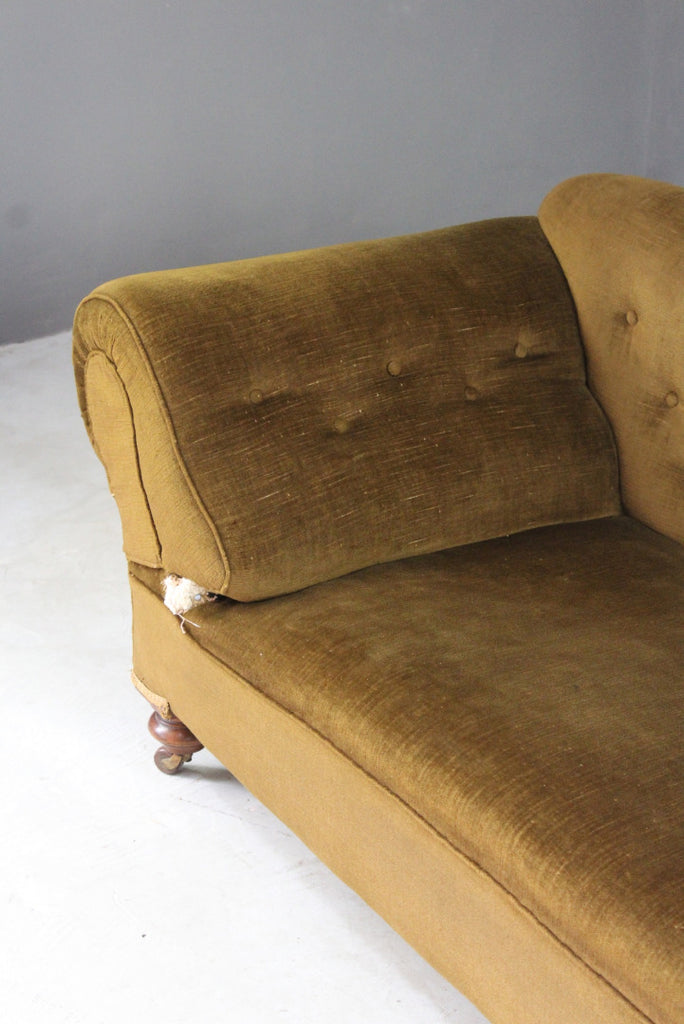 Antique Upholstered Chaise Longue for Restoration - Kernow Furniture