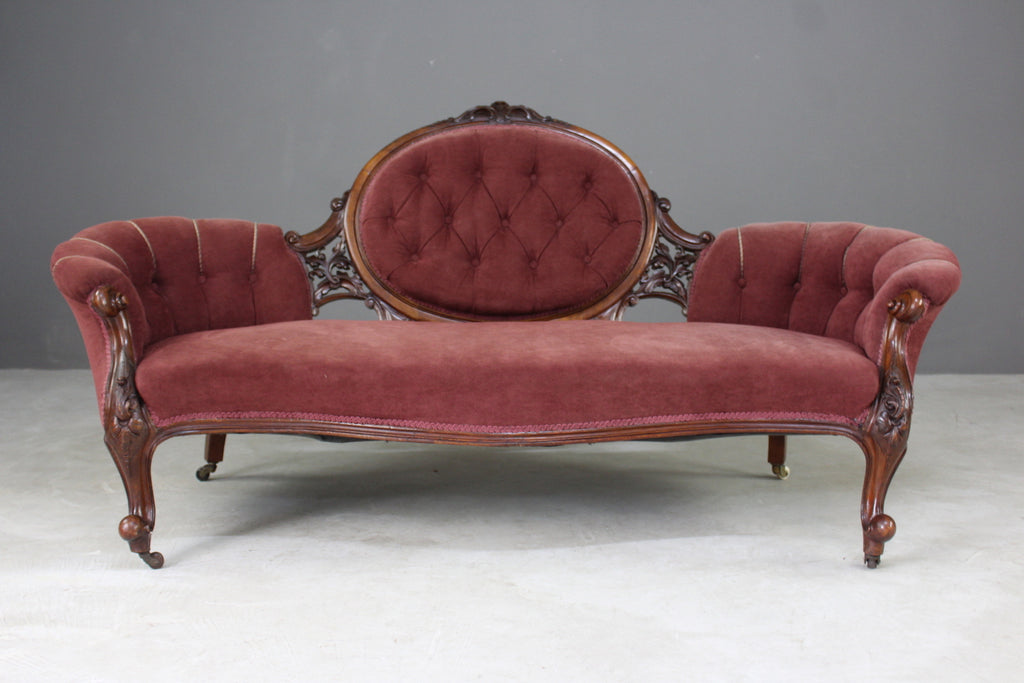 antique victorian carved settee sofa chaise