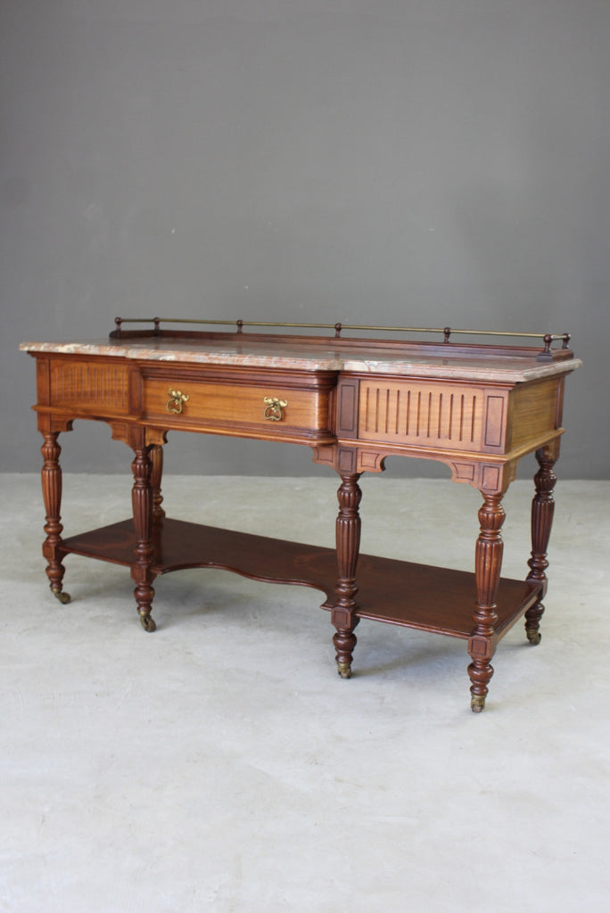 french marble top sideboard table