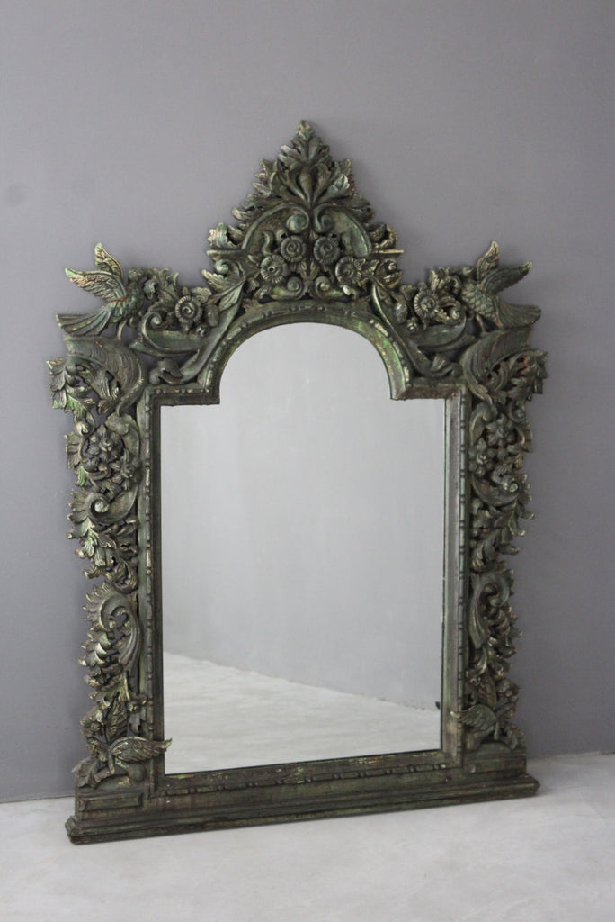 large ornate foliate carved wall mirror